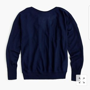 J. Crew 100% Merino wool v back sweater